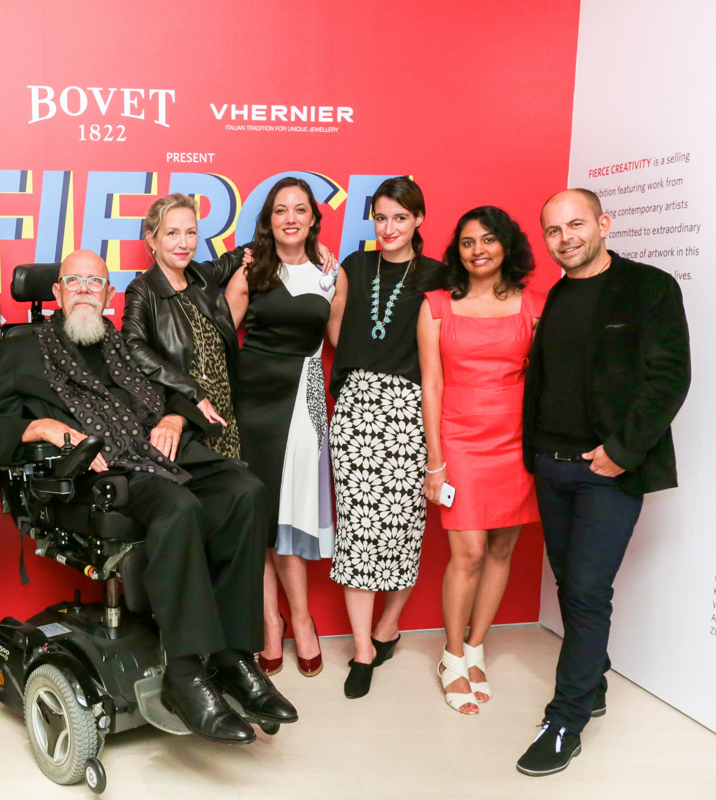BOVET 1822 PRESENTS WITH VHERNIER FIERCE CREATIVITY 2014 OPENING RECEPTION CURATED BY CHUCK CLOSE AND JESSICA CRAIG-MARTIN IN SUPPORT OF ARTISTS FOR PEACE AND JUSTICE AT PACE GALLERY